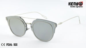 New Coming Fashion Sunglasses with Flat Lens for Man, CE FDA Km15178 pictures & photos