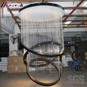 Hotel Lobby Decorative Hanging Fiber Large Round Pendant Lamp pictures & photos