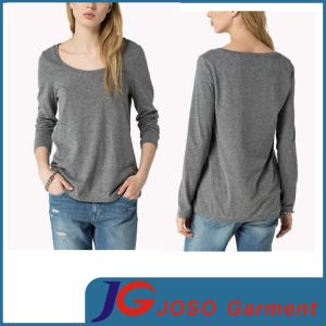 Long Sleeve Shirt Women Sport Style Top (JS9049) pictures & photos
