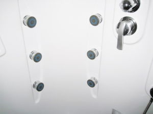 ABS Square Tray Simple Shower Cabin (ADL-830) pictures & photos