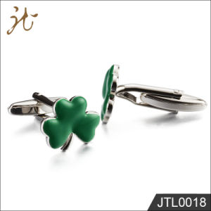 Fashion Nice Quality Green Leaf Shape Cuff Buttons Wholesale pictures & photos