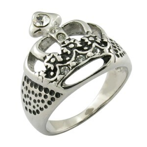 Fashion Stainless Steel Jewelry Crown King Ring pictures & photos