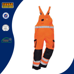 Mechanic High Vis Reflective Tape Coverall Work Wear Bib Brace Overall pictures & photos