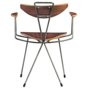 Vintage Steel and Wood Cafe Chair pictures & photos