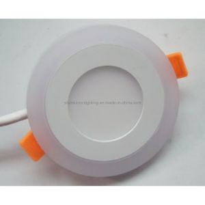 Round Two Color 8+6W LED Panel Light with Blue Circle pictures & photos