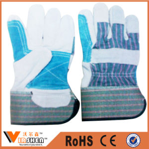 Ce En388 Fake Leather Working Gloves Industrial Safety Gloves for Workers pictures & photos