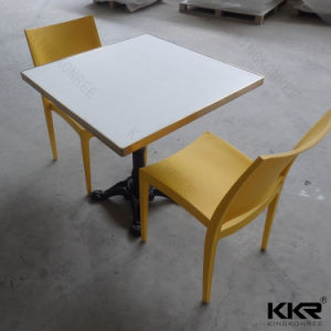 White 4 Seaters Solid Surface Dining Table pictures & photos