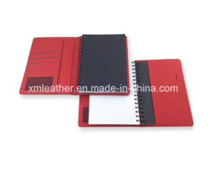 Hardcover Leather Agenda Wire Bound Spiral Notebook pictures & photos