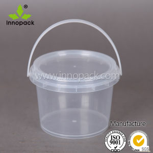 Clear 1 Kg Plastic Honey Bucket with Handle and Lid Wholesale pictures & photos