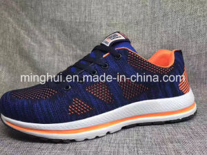 Women and Men Sport Shoes Fly Knit Light Weight Shoes Footwear pictures & photos