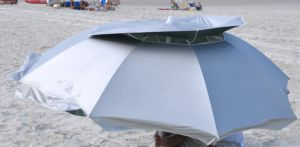 8 FT Solar Guard Deluxe Dual Canopy Beach Umbrella Upf 150+ Ultra Cool pictures & photos