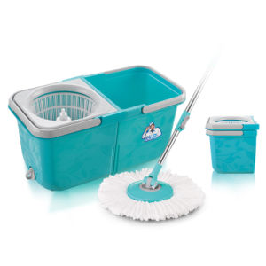 Super Spin Dry Mop Bucket & Wringer with 2 Microfibre Mop Heads pictures & photos