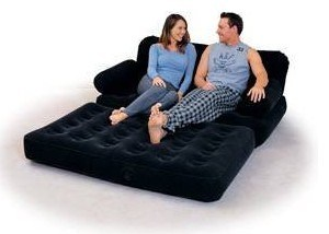 Inflatable Flocked Chair Air Bed/ Inflatable Airbed /Flocked Air Bed pictures & photos