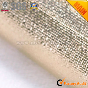 Golden Laminated Fabric with Metalic Film pictures & photos