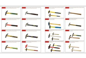 High Quality One Piece Claw Hammer with Plastic Coating Handle pictures & photos