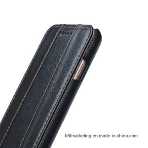 Genuine Real Leather Flip Mobile Cell Phone Case for iPhone pictures & photos