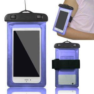 Transparent PVC Waterproof Phone Case with Shoulder Strap for Phone Waterproof Bag pictures & photos
