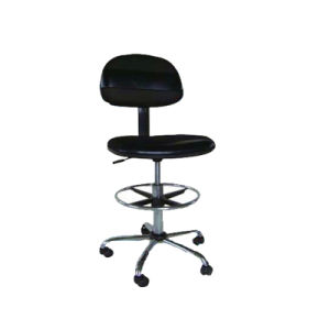 ESD Cleanroom PU Leather Chair with Foot-Rest pictures & photos