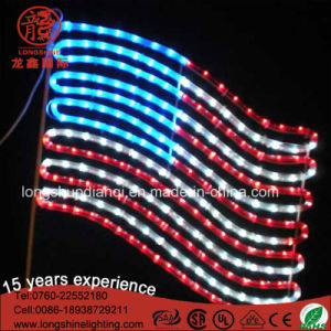 Hotsale American IP44 Ce LED Motif Decorative Rope Light Decorative for Natioanal Day pictures & photos
