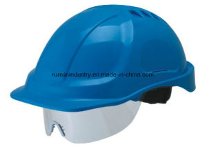 Safety Helmet with Rear PC Visor Ntc-5 pictures & photos