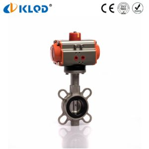 Stainless Steel Body Stainless Steel Disc Pneumatic Control Butterfly Valve pictures & photos