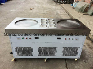 Wholesale Price Two Flat Pans Fried Ice Cream Machine pictures & photos