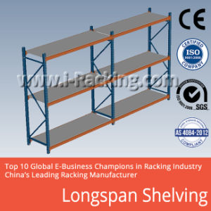 Heavy Duty Long Span Metal Shelf for Industrial Warehouse Storage pictures & photos