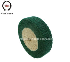 Non Woven Polishing Flap Wheel (Green Colour) pictures & photos