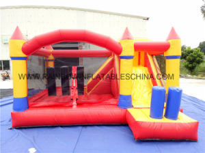 No Printing Inflatable Bouncer with Net for Small Kids pictures & photos