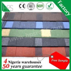 Colorful Building Material Stone Coated Roofing Tile Fashion Flat Roofing Material pictures & photos
