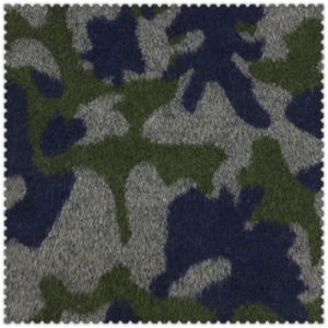 Army Green Polyester and Wool Fabric for Fashion Overcoat