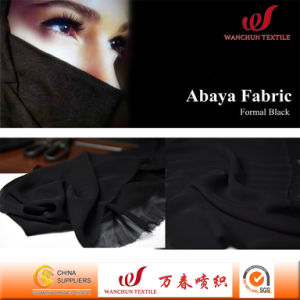 Formal Black Hi-Multi Chiffon Fabric for Abaya Garment pictures & photos