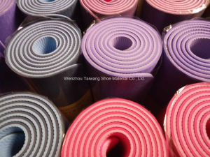 Double Color Green Yoga Mat High Quality Combination of Colorful Fitness Equipment pictures & photos