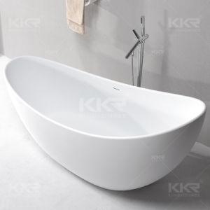 Kingkonree Freestanding Moon Shaped Stone Bathroom Bathtub pictures & photos