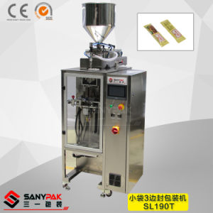Vinegar/Oil/Soy Sauce/Fruit Juice Three Side Seal Stickpack Machine pictures & photos