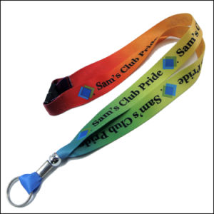 Blue Color Breakaway Safety Buckle Heat Transfer Lanyards for Badges Holder pictures & photos
