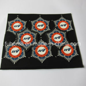 Custom Fashion Garment Silicone / PVC Print Nubuck Leather Label pictures & photos