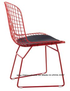 Replica Modern Dining Restaurant Knock Down Red Wire Chair pictures & photos