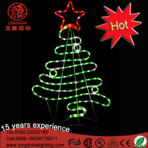 LED 2D Top Star Christmas Tree Motif Decorative Light for Holiday Event Decoration Ce RoHS pictures & photos