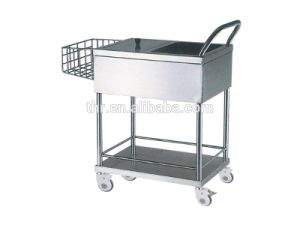 Thr-Mt023 Hospital Stainless Steel Diaper Trolley pictures & photos