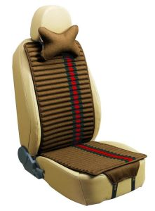 Car Seat Cover Flat Shape Double Sides Use with Linen and Pleuche-Brown