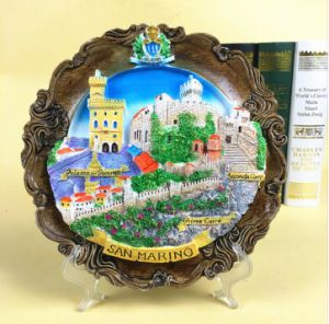 Hot Selling Italy Resin 3D Wall Hanging Souvenir Landscape Plate pictures & photos