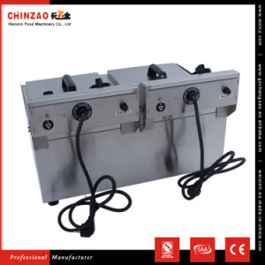 Commercial Stainless Steel Deep Fryer Twin 10L Tank Ce Approved pictures & photos