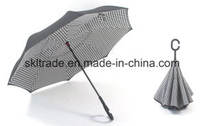 New Fashion Portable Handsfree Straight Reverse Inverted Umbrella for Car pictures & photos