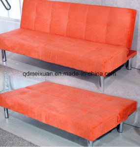 Simple Iron Legs Multi-Function Folding Sofa Bed Cloth Art Sofa Bed Lazy Sofa Bed (M-X3800) pictures & photos