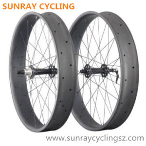 100mm Width Carbon Fat Bicycle Wheels pictures & photos