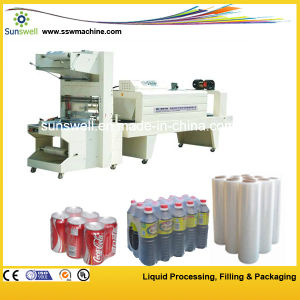 Plastic Bottles Semi Automatic Film Shrink Wrapping Machine / Shrink Packing Machine pictures & photos