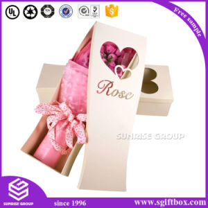 White Square Packaging Box with Gold Logo for Flowers pictures & photos