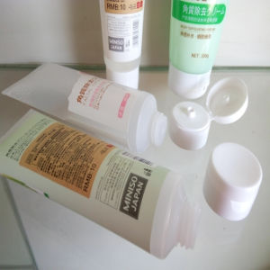 Body Lotion Cosmetic Plastic Labeling Tube for Miniso Series pictures & photos