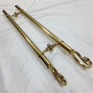 Stainless Steel Ti Finished Gold Color Handle in Hotel Glass Door pictures & photos